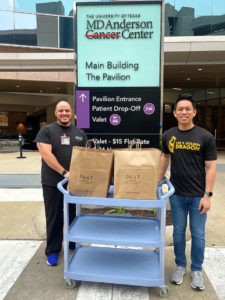 Bao delivering meals to first responders in Houston
