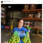 Teresa helping at the Food Bank in San Francisco