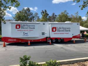 Lisa Giving Blood in LA
