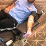 Mark gives blood in Norfolk