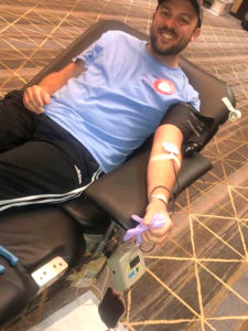 Mark gives blood in Norfolk